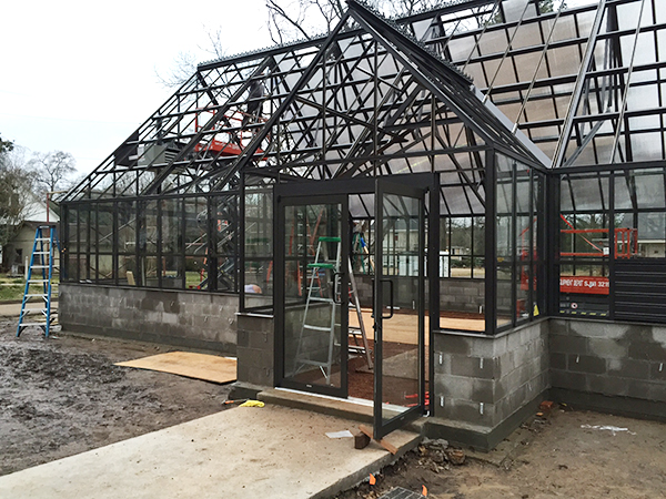 greenhouse in progress